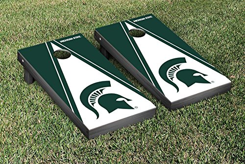 Michigan State Spartans Regulation Cornhole Game Set Triangle Version by Victory Tailgate