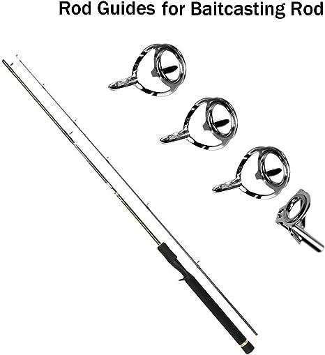 vorcool 75pcs ca/ña de pescar Pole Guides Consejo anillos Reparaci/ón juego