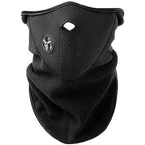AKORD - Máscara con cuello de neopreno para deportes de invierno, color negro, talla