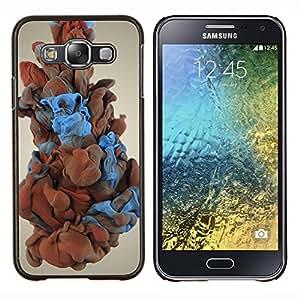 Qstar Arte & diseño plástico duro Fundas Cover Cubre Hard Case Cover para Samsung Galaxy E5 E500 (Humo del color)
