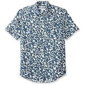 Amazon Essentials Men's Slim-Fit Short-Sleeve Linen Cotton Shirt