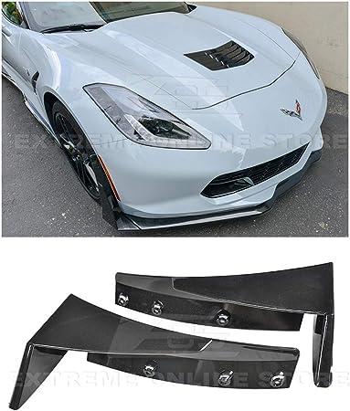 Z06 Z07 Stage 2 Style ABS Plastic Painted Carbon Flash Metallic Front Bumper Lower Lip Splitter Extreme Online Store for 2014-Present Chevrolet Corvette C7