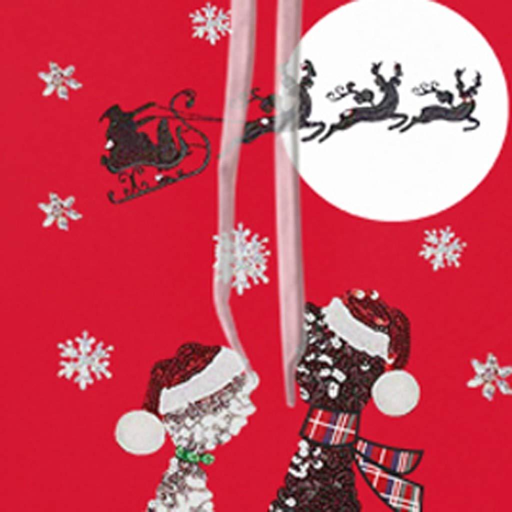 Felpa Uomo con Cappuccio Invernale Hoodie 3D Stampato Natale Cappotto Giacca Girocollo Autunno Inverno Caldo Felpe Tumblr Pullover Manica Lunga Casual Cappotti Maschili
