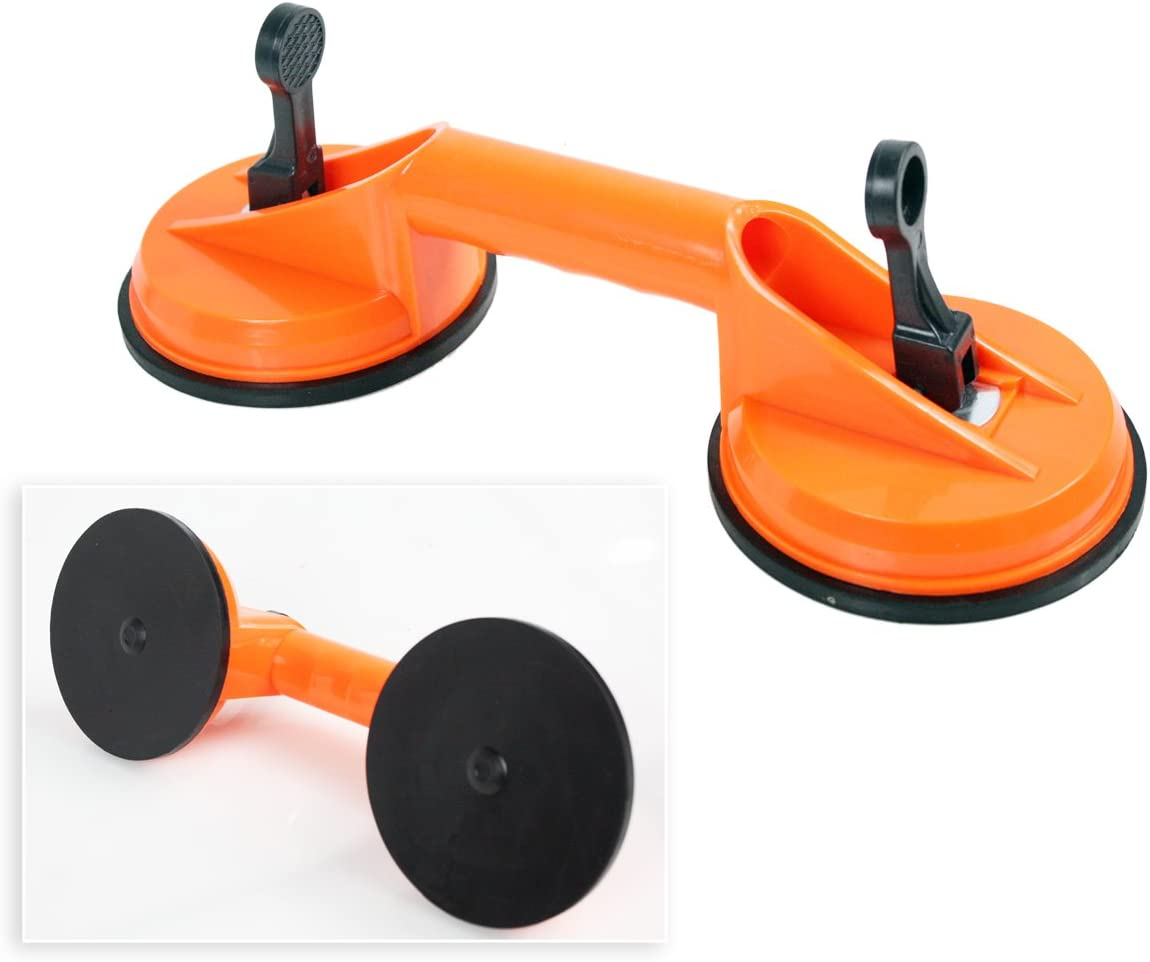Double Tile Puller for Glass Plate Door Puller Tool Hardware Tool Portable 60 KG Plastic Double Suction Cup