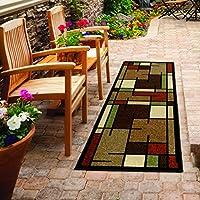 Orian Rugs Modern Design Garden Sonoma Mercer Multi Runner Rug (2 x 6)