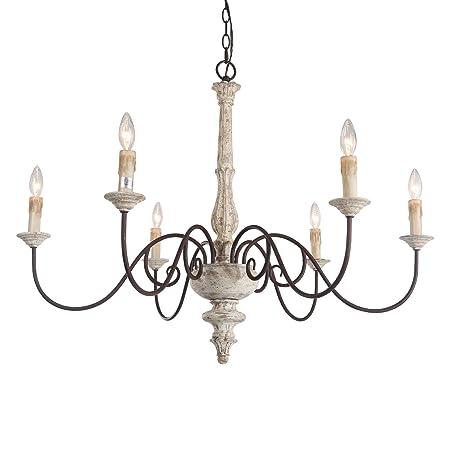 Amazon.com: LALUZ - Lámpara de araña francesa para comedor ...