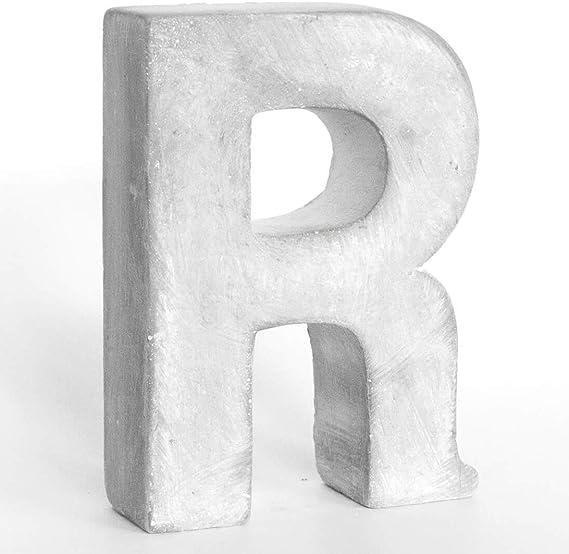 Beton Steinguss Buchstaben 3D Deko Schriftzug RELAX als Geschenk verpackt