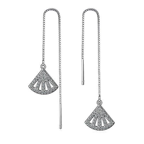 Amazon Com Globalwells Simple Tassel Earrings Chain Ear Jewelry Fan