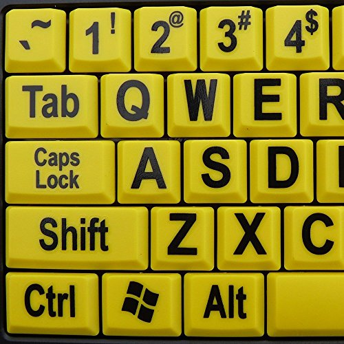 Large Print Yellow Keys USB Keyboard for Low Vision By DSI Photo #4