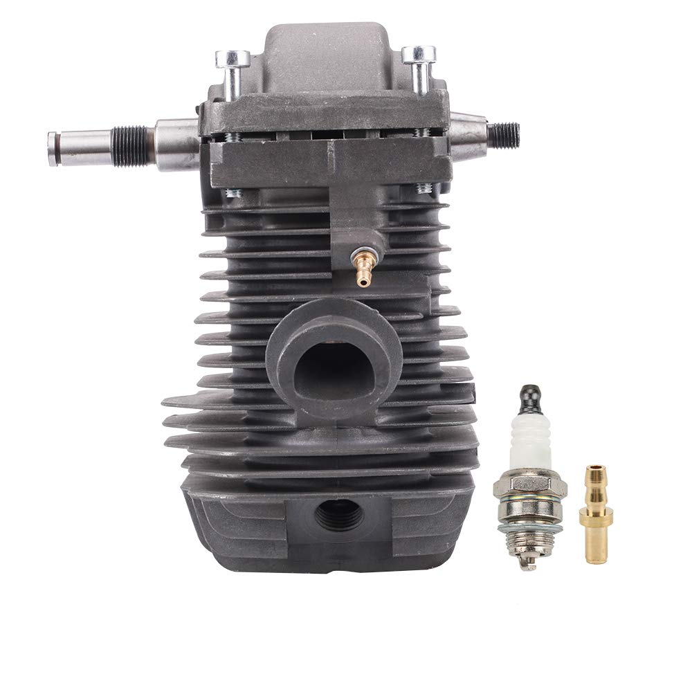 Kuupo 42.5mm Cylinder Assembly MS250 Cylinder with Crankcase Connector Spark Plug for STIHL 023 025 MS230 MS 250 Chainsaw 1123 020 1209 1123 030 0408