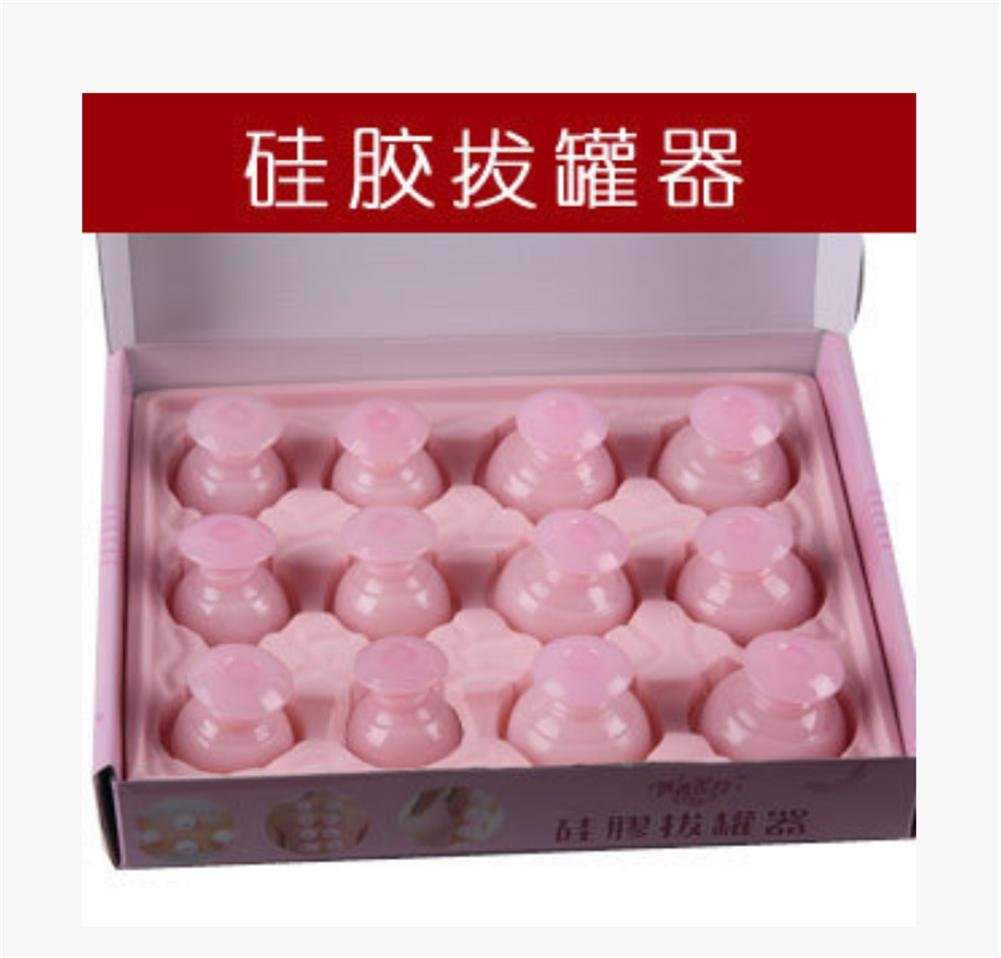 Natürliche Silikon Schröpfen Körper Gesundheitswesen Massage Gummi Cans Schröpfen Vakuum Schröpfen 12 Dosen High-End-Geschenk-Box