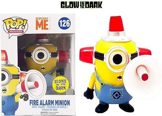 Funko POP Fire Alarm Minion FYE Exclusive Glows In The Dark #126 by FunKo:  Amazon.es: Juguetes y juegos