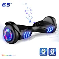 """Hoverboards Patinete Eléctrico Balance Board de 6.5"""" Pulgadas-Scooter con LED y Bluetooth"""