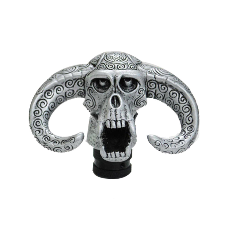 Bashineng Gear Shift Knob Skull Gear Universal Car Accessories Cow Head Level Manual Automatic Shifter Head