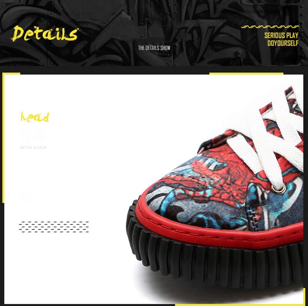 LBZD Fashion Fashion Fashion Men es Printed Canvas Schuhe Casual Turnschuhe Sportschuhe e6048b