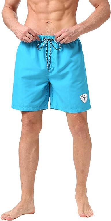 LJCCQ Mens Swim Trunks Shorts 301LXL Quick Dry Stripe with Pockets M