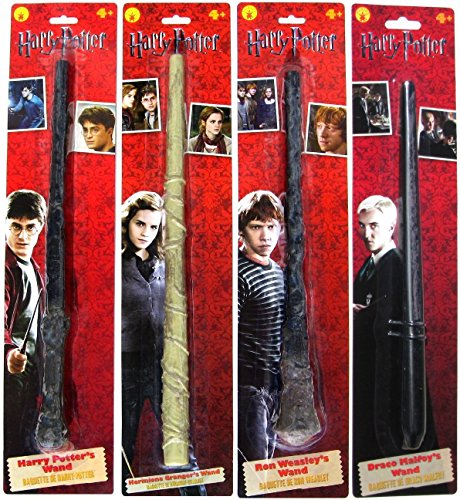 Rons Wand (Bundle - 4: Harry Potter, Ron Weasley, Hermione Granger, Draco Malfoy Magic Wands)