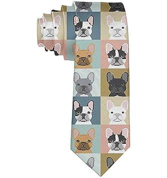 Corbata de perro Bulldog francés para hombre Corbata Corbata de ...