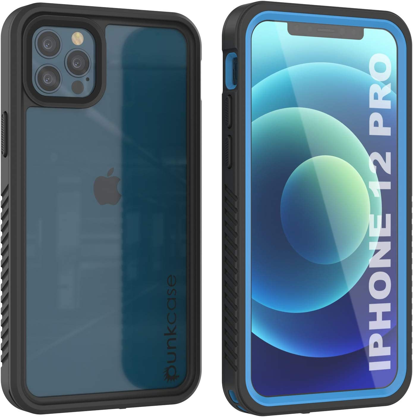 Punkcase iPhone 12 Pro Waterproof Case [Extreme Series] [Slim Fit] [IP68 Certified] [Shockproof] [Snowproof] Armor Cover W/Built in Screen Protector Compatible with Apple iPhone 12 Pro (6.1