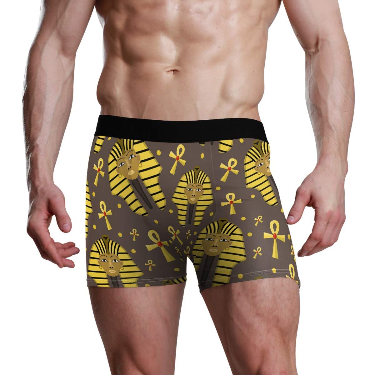 UNISE Pharaoh Exotic Boxer Briefs Comfortable Soft Underwear Boyshorts Underwear for Men