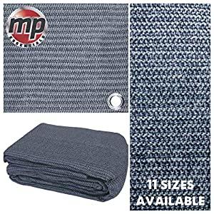 MP Essentials Weaved Supreme Rot Weatherproof Ground Covering Groundsheet Tent & Awning Carpet – BLUE & GREY