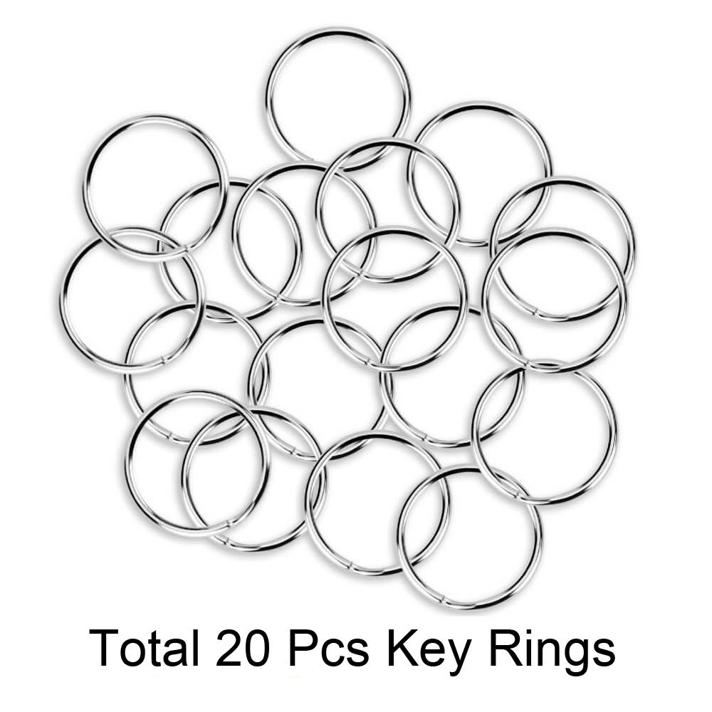 20Pcs D Shape Ring Clasps Trigger Clips Snap Fishing Hiking Camping 20Pcs Key Rings,D Shape Spring-loaded Gate Aluminum Carabiner for Home Rv