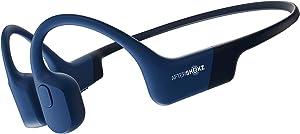 AfterShokz Aeropex Open-Ear Wireless Bone Conduction Headphones, IP67 Rated, Blue Eclipse
