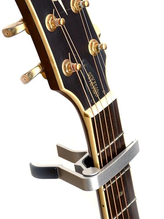 capo con disparador de r/ápida liberaci/ón para guitarra el/éctrica y guitarra ac/ústica /¡La cejilla est/ándar y de confianza que nunca te fallar/á! Elagon capo ST para guitarra negro etc