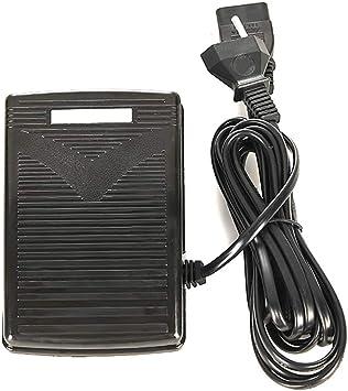 PopHMN Pedal De Control De Pie para Máquina De Coser, Accesorios Multifuncionales con Cable De Alimentación
