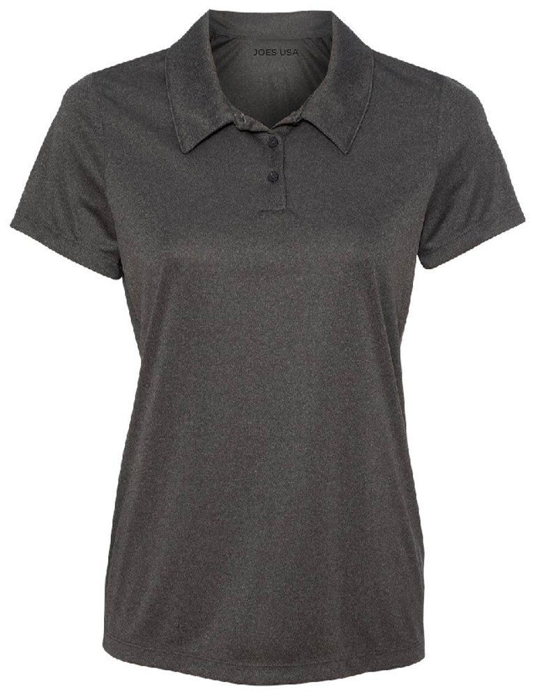Women's Dri-Equip Golf Polo Shirts 3-Button Golf Polo-3XL-Dark Grey Heather by Joe's USA