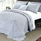 #8: BNF Home Serenta Faux Fur Quilted Tatami 4 Piece Bedspread Set, King, Apricot
