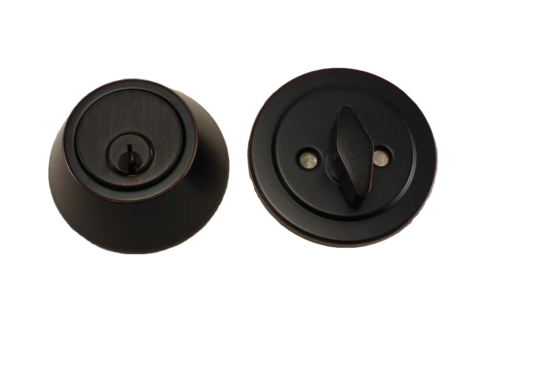 East West Consolidated Oil Rubbed Bronze Single Cylinder Deadbolt 920-US10B-1xc
