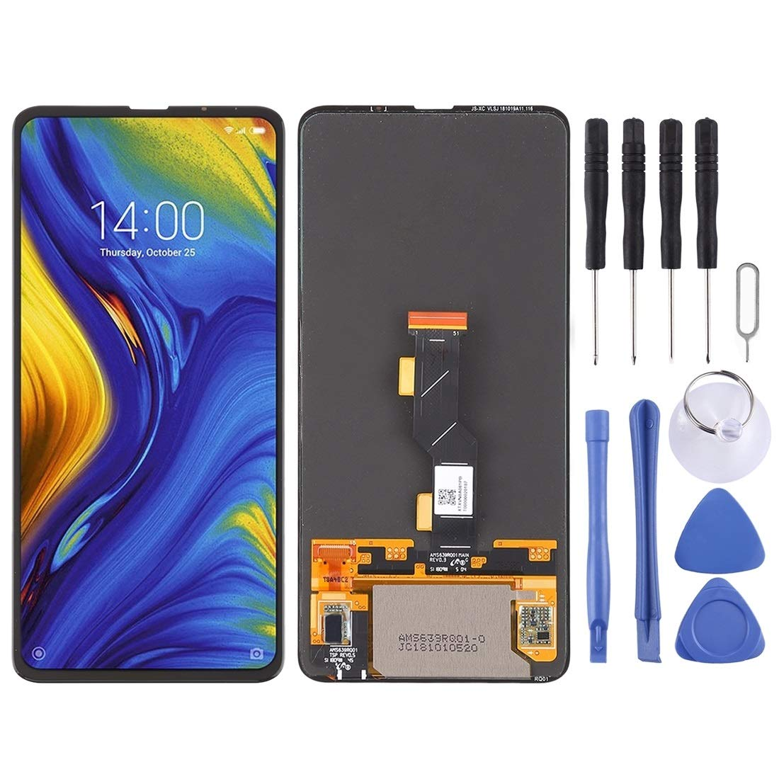 JUNXI Phone LCD Screen and Digitizer Full Assembly for Xiaomi Mi Mix 3(Black) (Color : Black) by JUNXI