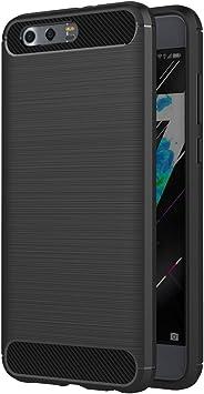 AICEK Funda Honor 9, Negro Silicona Fundas para Huawei Honor 9 Carcasa Huawei Honor 9 Fibra de Carbono Funda Case: Amazon.es: Electrónica