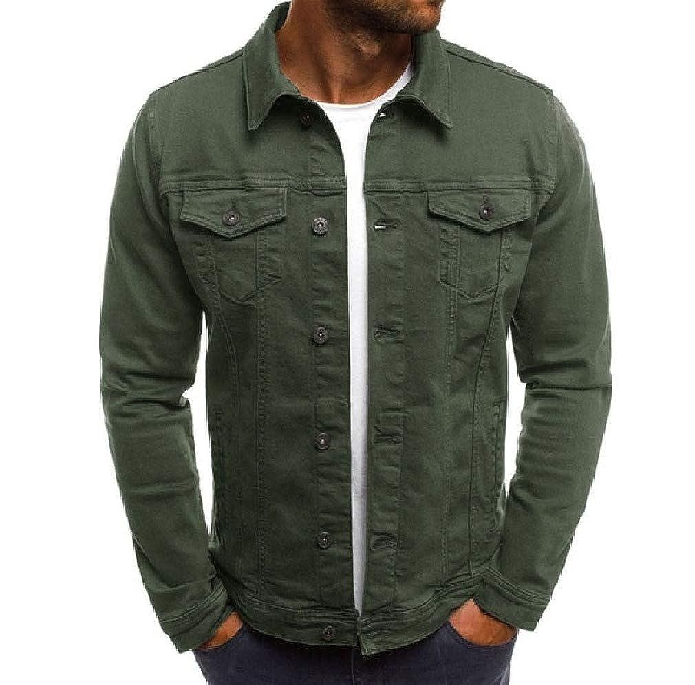 Mens Regular Fit Pocket Overshirt Button Up Shirt Jacket Tops