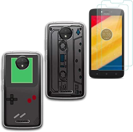 Reshias 2 X Funda Motorola Moto C Plus Cárcasa Silicona ...
