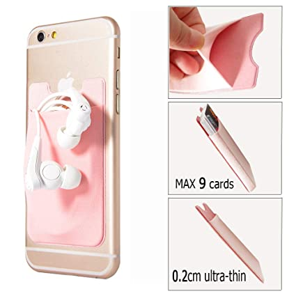 more photos d6fc5 c1fc9 GreatforU Back Card Holder, Stick-on Cell Phone Case, Ultra-slim 3M  Adhesive Credit Card Pocket Money Wallet Sticker, Universal for Phones,  iPhone XS ...