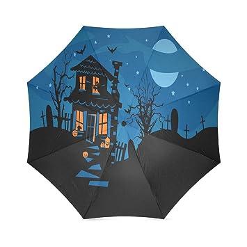 Happy Halloween s Day Gifts plegable lluvia paraguas sombrilla cortavientos viajes sol paraguas compacto