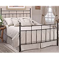 Hillsdale Furniture 380BKR Providence Bed Set with Rails, King, Antique Bronze
