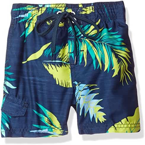 Kanu Surf Baby Toddler Boys' Cozumel Floral Swim Trunk