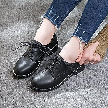 7ba53477 GAOLIM Zapatos De Mujer Zapatos Bajos De Cabeza Redonda Con Correa Solo  Zapatos Mujer Zapatos Negros ...