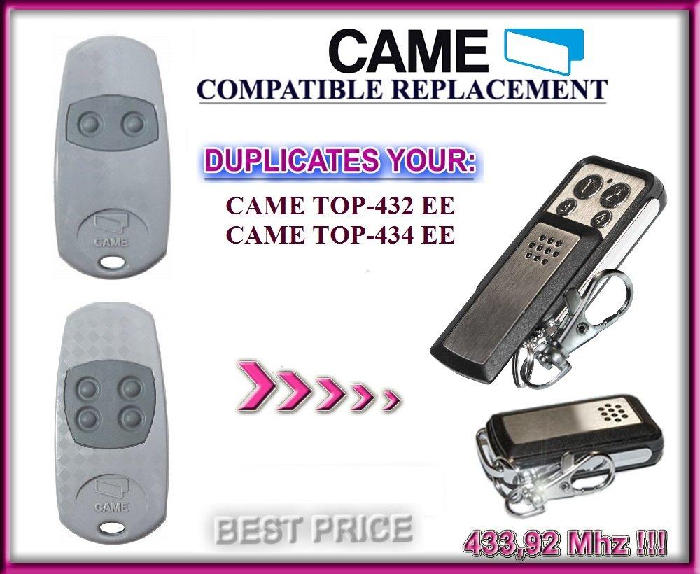 CAME Top432ee, came Top434ee Compatible télécommande, Clone émetteur pour porte de garage Automation, qualité supérieure KeyFob, fréquence de 433,92MHz Fixed Code Clone. came Top434ee Compatible télécommande