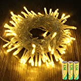 Ubrov String Light 43ft 100 LED Warm Battery Operated Light for Bedroom Home Patio Party Christmas Wedding Indoor Outdoor Decorations &Festival Functions