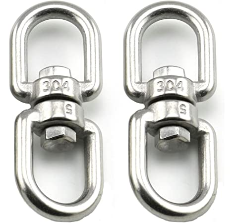 Lot of 2 Swivel Double Loops Hook Connector Two Ended chain Link