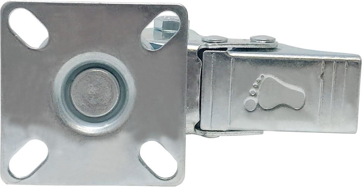 Online Best Service 4 Pack 2-Inch 200-Pound Heavy Duty Swivel Wheel Polyurethane Plate Caster 2 No Brake
