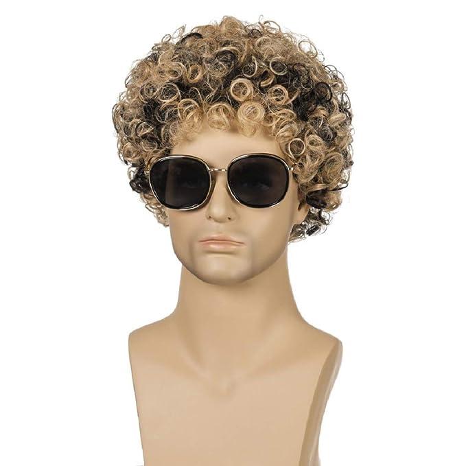 DER Cabeza De Fibra Química Wig para Hombre Salen Wig European Y ...