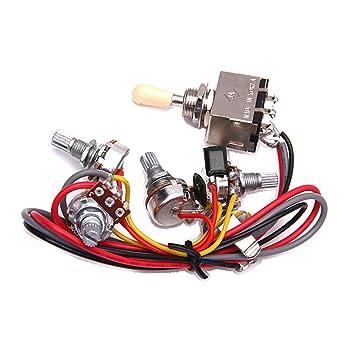 Cableado Del Circuito De Lp De La Guitarra Electrica 3 Cuadro Conmutador Selector De Pastillas 2v/2t/1j: Amazon.es: Instrumentos musicales