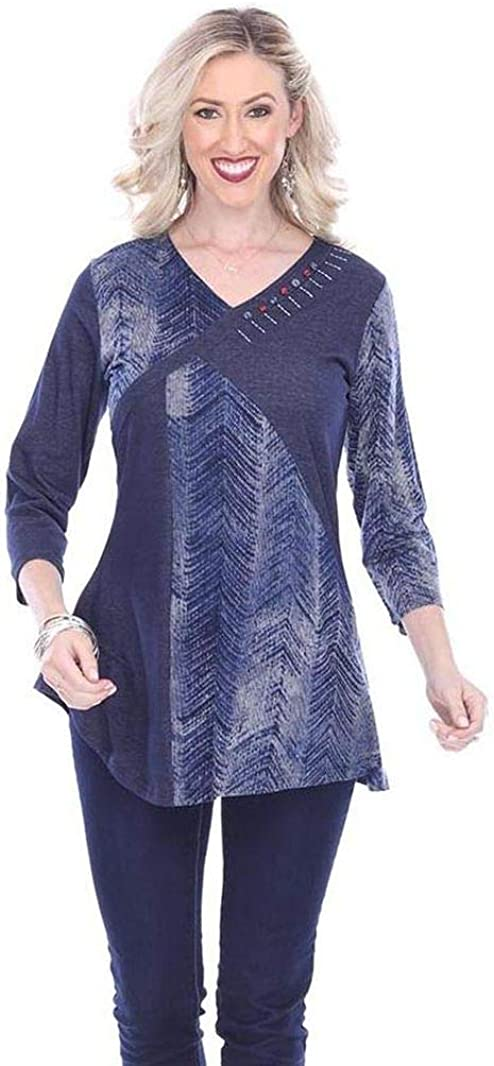 Parsley /& Sage Womens Hannah Fancy Tunic Top