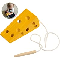 BelleStyle Montessori Activity Wooden Cheese Toy, Niños Niños