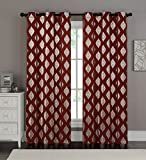 VCNY Home Sorento Window Treatment Curtains 76×95, 76″ x 96″, Red Review